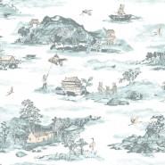 Classic Mountains Blue-Peach