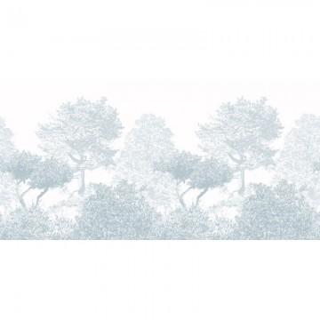 Magnetic Classic Hua Trees Mural Wallpaper Blue