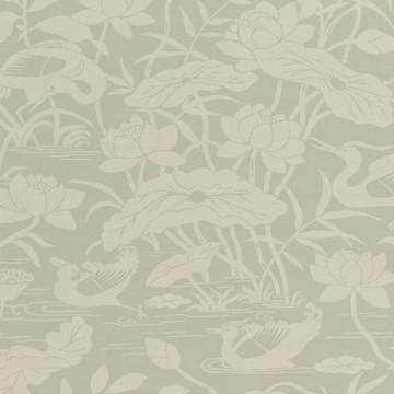 Heron & Lotus Flower Aqua BW450893