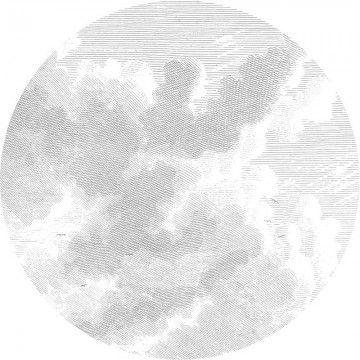 BC-058 Wallpaper Circle XL Engraved Clouds