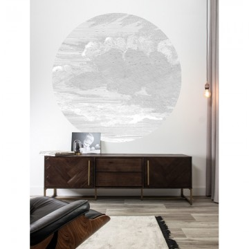 CK-057 Wallpaper Circle Engraved Clouds