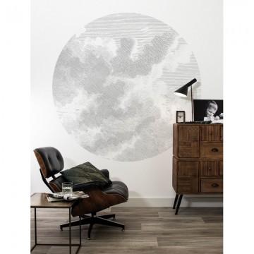 CK-058 Wallpaper Circle Engraved Clouds
