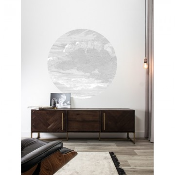 SC-057 Wallpaper Circle Engraved Clouds
