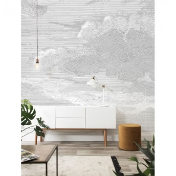 WP-635 Wall Mural Engraved Clouds