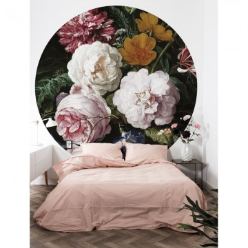 BC-012 Wallpaper Circle XL Golden Age Flowers