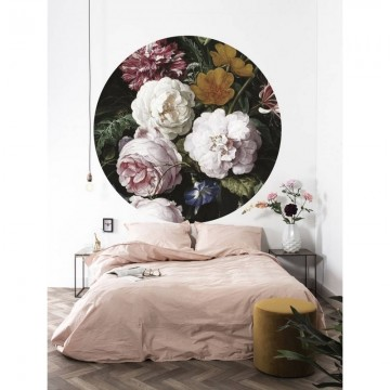 CK-012 Wallpaper Circle Golden Age Flowers