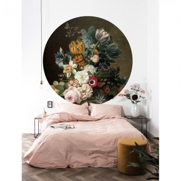 CK-075 Wallpaper Circle Golden Age Flowers