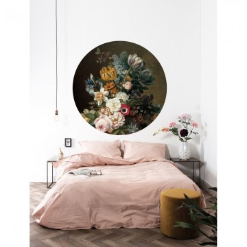 SC-075 Wallpaper Circle Golden Age Flowers