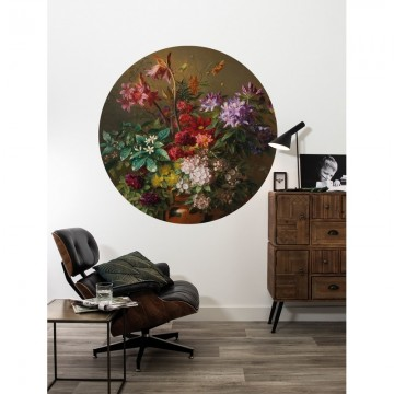 SC-076 Wallpaper Circle Golden Age Flowers
