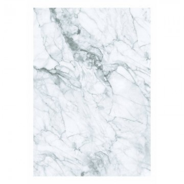 WP-557 Wall Mural Marble, White-Grey