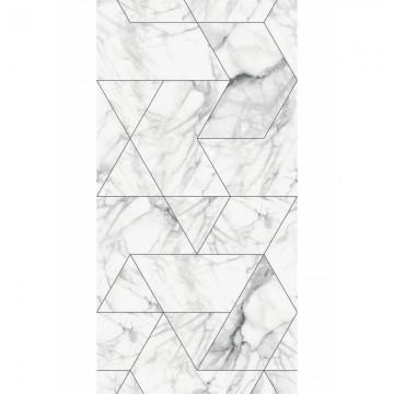 WP-578 Wallpaper Marble Mosaic, White