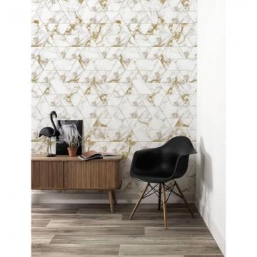 WP-576 Wallpaper Marble Mosaic, Gold