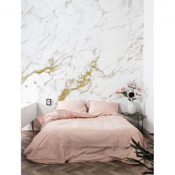 WP-555 Wall Mural Marble, White-Gold