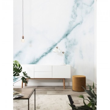 WP-553 Wall Mural Marble, White-Blue