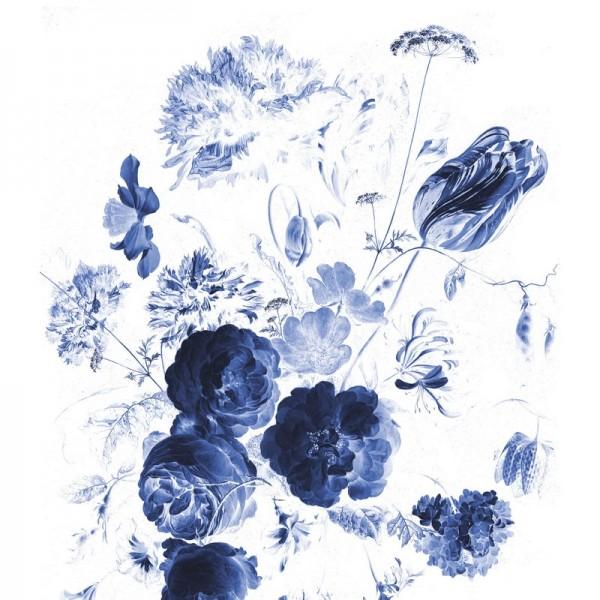 BP-044 Wallpaper Panel XL Royal Blue Flowers