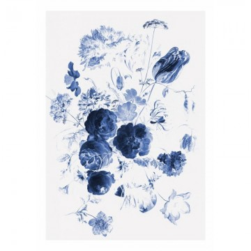 WP-207 Wall Mural Royal Blue Flowers 1