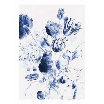 WP-208 Wall Mural Royal Blue Flowers 2