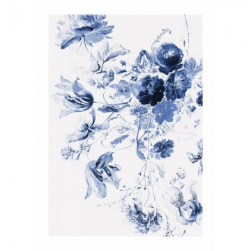 WP-209 Wall Mural Royal Blue Flowers 3