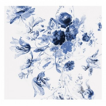 WP-219 Wall Mural Royal Blue Flowers 3