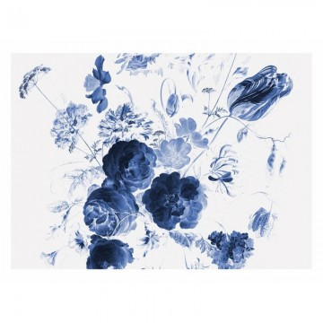 WP-223 Wall Mural Royal Blue Flowers 1