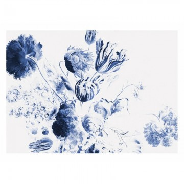 WP-224 Wall Mural Royal Blue Flowers 2
