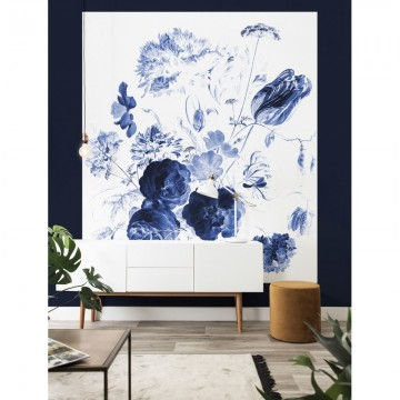 BP-044 Wallpaper Panel XL Royal Blue Flowers