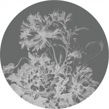 BC-065 Wall Mural Engraved Flowers