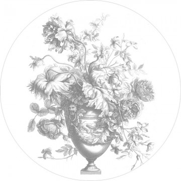 BC-068 Wall Mural Engraved Flowers