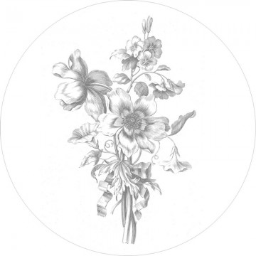 CK-063 Wall Mural Engraved Flowers