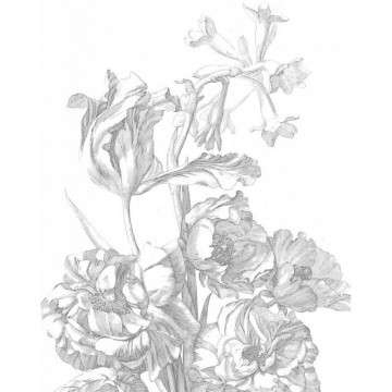 PA-015 Wall Mural Engraved Flowers