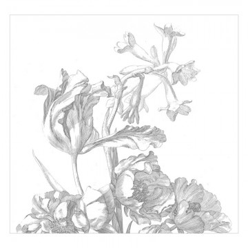 WP-670 Wall Mural Engraved Flowers