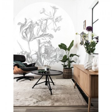 BC-059 Wall Mural Engraved Flowers