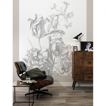 BP-015 Wall Mural Engraved Flowers