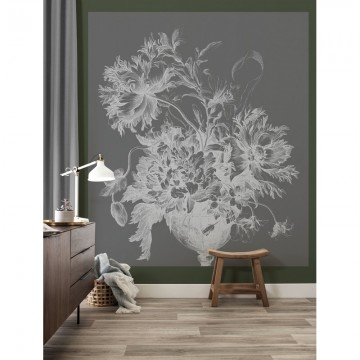BP-032 Wall Mural Engraved Flowers