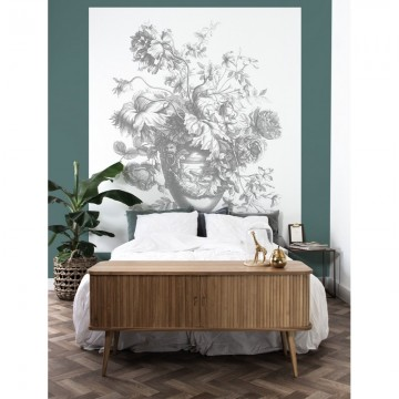 BP-037 Wall Mural Engraved Flowers