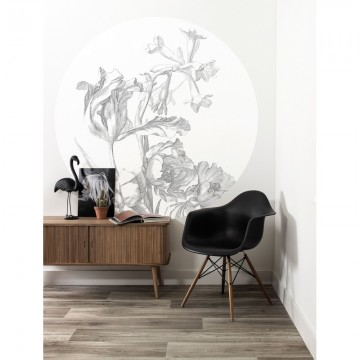 CK-059 Wall Mural Engraved Flowers