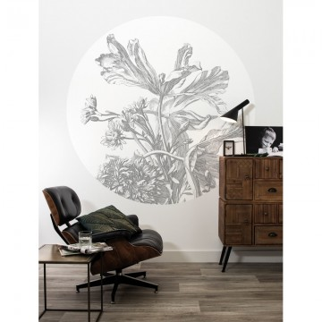 CK-060 Wall Mural Engraved Flowers
