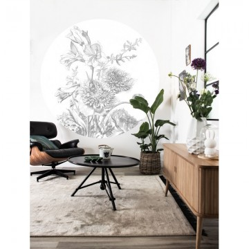 CK-061 Wall Mural Engraved Flowers