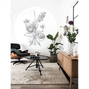 CK-064 Wall Mural Engraved Flowers