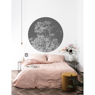 CK-065 Wall Mural Engraved Flowers