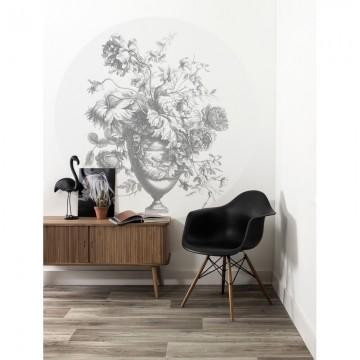 CK-068 Wall Mural Engraved Flowers