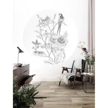CK-070 Wall Mural Engraved Flowers
