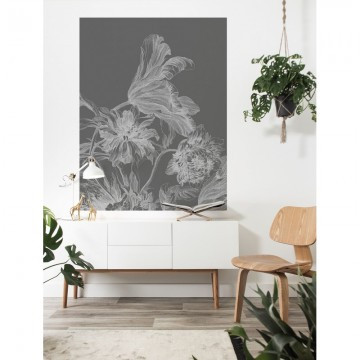 PA-033 Wall Mural Engraved Flowers