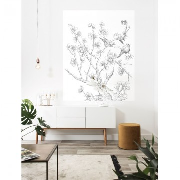 PA-034 Wall Mural Engraved Flowers