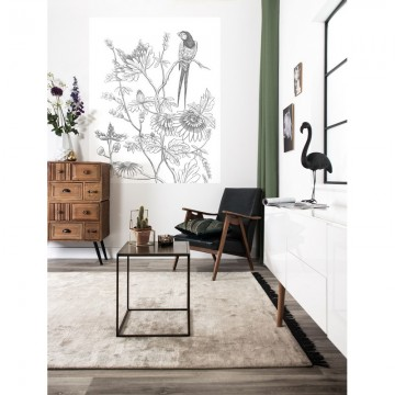 PA-035 Wall Mural Engraved Flowers