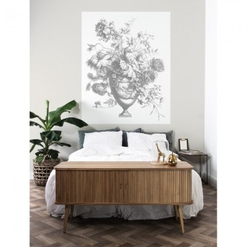 PA-037 Wall Mural Engraved Flowers