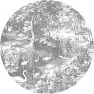 BC-045 Wallpaper Circle XL Engraved Landscapes