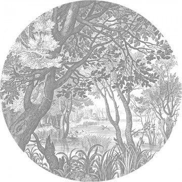 CK-044 Wallpaper Circle Engraved Landscapes