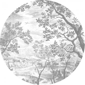 CK-046 Wallpaper Circle Engraved Landscapes