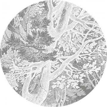 CK-051 Wallpaper Circle Engraved Landscapes